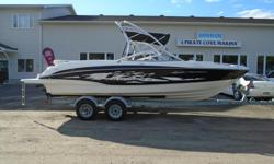 2010 Bayliner 235 Flight Description: Sporting bold looks and sharp design, the 235 truly stands out on the water. The roomy cockpit and bow on the 235 make the perfect haven for all-day escapes on the water. If watersports are your game, the 235 comes to