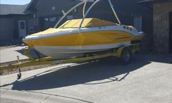 2010 Chaparral 186 SSI - 19.6 feet long - 8 foot beem - 4.3 liter mercruiser 190 HP - 156 hours on the motor - integrated swim platform - stereo and trim control accessable from swim platform - tower mirror and wakeboard rack included but not in the