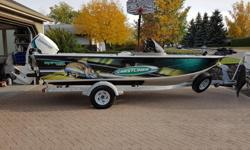 2010 Crestliner Raptor 1850 with a 175hp Evinrude E-tec (approx. 370 hours on motor). This boat is in immaculate condition and has been serviced by Regina Marine since brand new. It comes with 4 pro chairs, 2 livewells, port and bow rod lockers, Sony