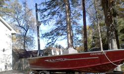 2010 Lund 1475 Rebel SS fishing boat complete with motor and trailer. Also comes with many accessories.