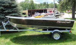 "Summer Clear Out!   2010 Mirrocraft 3654 Deep Fisherman Utility V Boat Package   Utility V boats are all about function and built tough with very low maintenance.  Cross ribs are spaced every 10"" and strong transom bracing along with rigid tank seats"