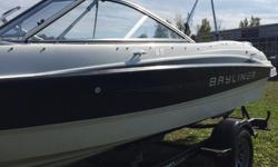3.0L Bow and Cockpit Covers Bimini Top Extended Swim Platform Underwater Lighting Drain Plug Karavan Painted Trailer Sport Seating AM/FM MP3 Stereo Fresh trade, bought and serviced with George's. Please call 1-888-212-9289 for more information and to