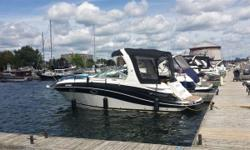 Want a great day for summer cruising through the Thousand Islands and other water ways? You can have it with this 2011 Four Winns 285. The boat has had only one previous owner and always professionally maintained and stored indoors. The price includes: -