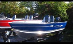 This 14' side tiller model is a great choice for a day out fishin'. * 2011 Yamaha 25HP - 4 stroke - manual start, tiller * 2 pedestal seats * live well / rod storage * vinyl floor * trailer included * Comes with mooring cover, spare tire, and bow trolling