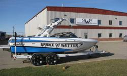 2011 Malibu Wakesetter VLX, 350hp 5.7L Indmar Monsoon with 52.2 hours. Loaded unit, Zero Off GPS speed control. Maliview, Malibu Touch Command. White tower upgrade. Call us today or check out http://saskatoonwatersports.com/boatDetail.aspx?bID=226 for