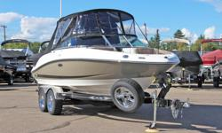 Dealer Demonstrator - 2.5 hours ONLY! **LIMITED TIME OFFER** REGULAR: $68,995 $10,000 SAVINGS! POWER-UP SAVINGS: $58,995 w/Mercruiser 350 MAG BRAVO 3 INCLUDES: Stainless Steel Props, Bow Cushions, Courtesy Lights, Snap-In Carpet, & Bimini Top w/Full