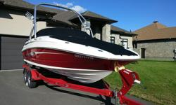 This boat is a one owner powered with a dual prop 250 Mag Mpl Dts Br 3 (300 _hp) Stern Drive. comes with such factory options as a two tone gel coat, Cockpit Cover W/Tonneau Cover, Led interior lighting, Smartflow Speed Tachometer, Vision Air Bucket