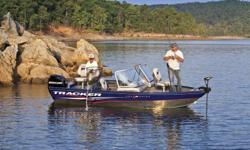 2012 Tracker ProGuide V16 WT The TRACKER® Pro Guide? V-16 WT, our most agile Deep V walk-thru is an all-around favorite with anglers who fish through all the seasons. Even on cool, windy days, the wraparound windshield keeps you warmer and drier by