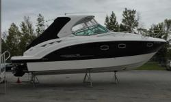 Recent trade in with low hours and in great shape. Perfect touring boat with plenty of space for friends and family. Includes: - Twin Mercruiser 350 Mags with Bravo 3 Drives - Kohler Generator - Heat/Air - Bow Thruster - Garmin VHF - Remote Spotlight -