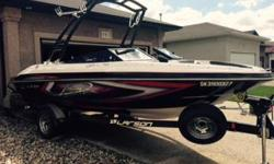 Like new - excellent condition. Approximately 30 hours on it. Stored indoors during the winters. 4.3 MPI fuel injected mercruiser with 220 hoarse power. Has snap in carpet, boat cockpit covers as well as a travel cover. Just put a Monster Tower on last