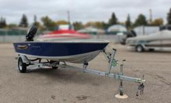Boat, Motor, Trailer & Cover ALL INCLUDED! = $7,995 w/Mercury 30Hp Fourstroke Mercury Warranty Until May 15, 2021 INCLUDES: Deluxe Cover and Trailer *Offer Expires End of Month Standard Features Construction & Exterior Deluxe cover Aluminum Prop (9.25 x