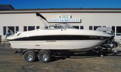 2013 Stingray 215 LR Description: This one owner bowrider is ideal for big water or small. It is powered by a powerful but efficient fuel injected 5.0 litre Volvo GXi and includes a tandem trailer with brakes. It is nicely appointed for a day on the water