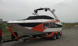 All the fun and power as the competition wakeboard boats with a higher profile and hybrid tri-haul design for stability and handling. We purchased at the very end of summer in 2014 and used once that year. We had it professionally winterized and a custom