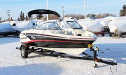 **LIMITED TIME OFFER** Regular: $39,995 $2000 SAVINGS! POWER-UP SAVINGS: $37,995 w/4.3L MCAT 220HP INCLUDES: Driver Bolster Seat, Auto Bilge, Compass, Tilt Steering, Bimini Top, Upgraded Deluxe Ratchet Cover & Factory Installed Depth Finder! Features NEW