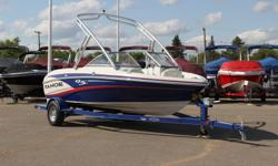 **LIMITED TIME OFFER** Regular: $39,995 $4000 SAVINGS! POWER-UP SAVINGS: $35,995 w/190HP & Folding Wake Board Tower INCLUDES: Driver Bolster Seat, Auto Bilge, Compass, Tilt Steering, Bow & Tonneau Cover & Factory Installed Depth Finder! Features NEW AM/FM