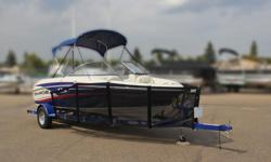 Boat, Motor, Trailer & Cover ALL INCLUDED! = $31,995 w/Mercruiser 4.3L TKS 190Hp INCLUDES: Bimini Top, Rockguard and Deluxe Cover! Mercury Warranty Until May 5, 2022!!! *Offer Expires End of Month Standard Features Construction & Exterior Deluxe Cover