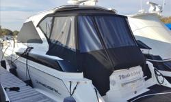 Beautiful luxury from Regal! Very low hours, well maintained, many extras! Custom-made aft bimini extension for even more headroom and convenience in the aft seating area. Starboard side walk-thru filler seat/seat back for even more seating for guests.