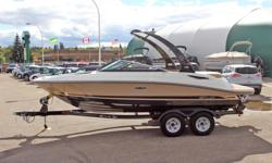 POWER-UP SAVINGS:w/350 MAG MPI DTS Bravo 3 (300HP) INCLUDES: 350 MAG MPI DTS Bravo 3 (300 HP), Thru Hull Exhaust System Selectable Single Engine, Cockpit Cover w/Tonneau Cover, Starboard Adjustable Height Helm Seat Base, 2 Buckets w/flip-Ups, Sunpad