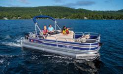 """**LIMITED TIME OFFER** REGULAR: $36,995 - $3000 CASH ALTERNATIVE = $33,995 w/60 ELPT 4S BigFoot LIMITED TIME BONUS: Upgraded Cover & Fishfinder! Includes Sun Tracker 10+Life Warranty """"The Best Warranty in the Pontoon Business""""! Features 24"""" (60.96 cm)"""