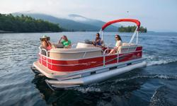 You bring the family. We'll bring the party. The PARTY BARGE 18 DLX is built for fun, with luxurious upholstery throughout and a full-width swim platform and boarding ladder at the stern. Storage abounds under the couches and lounges, and the roomy