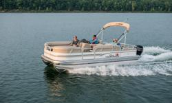 **LIMITED TIME OFFER** REGULAR: $39,995 - $4000 CASH ALTERNATIVE = $35,995 w/60 ELPT 4Stroke Command Thrust LIMITED TIME BONUS: Upgraded Cover & Fishfinder! There are so many NEW features onboard the 2015 PARTY BARGE 22DLX! But the one thing that remains