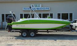 The Sportabout's performance-inspired styling is guaranteed to turn heads on any lake, but it's the ease of use that'll relax any captain's mind. It's got unprecedented fuel efficiency, easy to trailer in and out of the water, and features an elevated ski