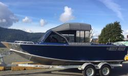 The Next Generation of Offshore Fishing with this 2016 North River 21 Seahawk WRTF rigged a Yamaha F150XB Color matched zolotone - above gunnel and interior - Blue Metallic Yamaha Pre-rig w/ dual Command Link Gauge kit Welded Removable Top Frame, with
