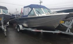 "Package Includes: Mercury 115HP EFI 4ST / Highliner 2300LB. Galv. Trailer / 7'-2"" Beam / One Piece Formed Hull / Low Profile Bow Railing / Chain Locker w/ Drain / Downrigger Pads / Dual Wipers / 25"" Engine Bracket w/ Kicker Mount / Fish Box In Rear Gunnel"