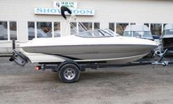 All Standard Features PLUS: Volvo Penta 200 hp 4.3 Aft filler cushion Twin Bolster Seats, Tilt Steering Helm Seat Slider Bluetooth Stereo Transom Trim Switch Stainless Package Bimini Top , Bow and Cockpit Cover EZ Loader Trailer w/ Chrome Wheels & Swing
