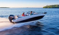 All-NEW Model! The ouboard-powered TAHOE 450 TF makes the perfect family retreat with tons of fun and fishing friendly features! At the aft are port and starboard swim platforms with a base for the optional ski tow pylon while at the bow, the 12V Minn
