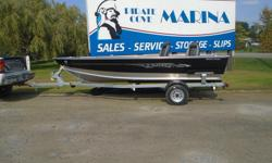 The Lund 1600 Rebel is a unique aluminum fishing boat that completely breaks the mold. Included Options: Mercury 30hp ELHPT w/ Power Trim & Tilt Spitfire prop Vinyl floor and bow deck Travel cover Pre-wired For Bow Trolling Motor Galvanized Bunk Trailer