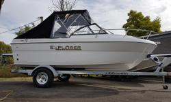 Pre-rigged w/ Mercury 150 Pro XS engine and galvanized EZ Loader trailer. In addition to all the standard options this boat comes equipped with Dual battery switch, Faria gauges, Mercury Active Trim, VesselView Mobile, Kicker KMC20 Media Center, Port Side