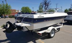 Great 2003 Family Boat. Bower Rider 135 hp Inboard, seats 7 very comfortably with cooler and bags, deep hull, wider more stable, cuts thru the waves and cruises the lakes beautifully. Includes tow ropes, skis, knee board, tubes, life jackets. Bimini top
