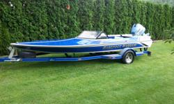 """Ski Centurion """"Barefoot Warrior"""" This boat is clean, fast, fun and ready to go. 185 HP Evinrude Outboard (50+ MPH with 19 pitch SS prop). The motor has been recently rebuilt (have all receipts) and has roughly 100 hours on the rebuilt motor which runs"""