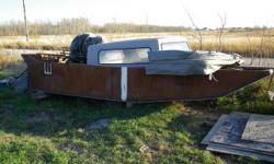 20'X8' METAL HULL AIRBOAT W/6 CYL 165 HP DIESEL ENGINE,8' CUSTOM ORDERED PROP. HAS TO BE COMPLETED- OUTPUT SHAFT FOR DRIVE IS ON AND DONE,THERE ARE A FEW THINGS THAT NEED TO BE DONE TO FINISH THIS BEAST. FLOATATION CAPACITY IS 16,000LBS   THERE IS OVER