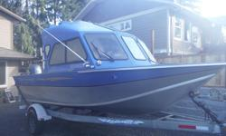 Hardtop welded aluminum walk through windshield Year 2011 just has 700 hrs on boat and main motor Easy loader trailer 2011 2016 yamaha 9.9 high thrust kicker has own controls and key start. duel batteries 2011 yamaha 150 serious inquiries only please.
