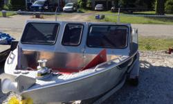20 Ft. RIVER BOAT: Welded Alum Hull with Leg Gaurd Recent 6.2 D.F.I. Engine,with American Turbine Jet, Set-up for River Fishing with Foot Control Power Anchor. As New Tandem Axle Trailer: Excellent Condition Contact Ray to view in Hope. 604-860-3000