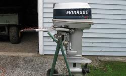 20 HP Evinrude, 1989 new impeller, Runs great!