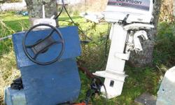 20 hp johnson motor. & stering coulem& throtle cable every thing works good TRADE FOR DIRT BIKE  OF SOME SORT