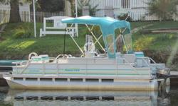 20' Manitou Pontoon Boat - Brand New Nissan 25 hp motor. Excellent condition. Aerator pump and live bait well.