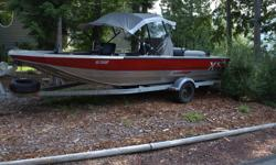 2175 XS extreme shallow Harbercraft center consol 175 sportjet with high skew impeller reinforced bottom bimini top captain chairs rod holders on Karavan trailer only 158 hrs on unit, great condition call 250-635-7033 Terrace B.C. asking $24,500.00obo