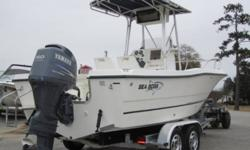 Price is $24,500 with 9.9 kicker or $23,000 without it. Also has a brand new full size fitted storage cover.  21.5Ft. Offshore Fishing Machine. Extra deep V. It is a 2005 Sea Boss 215 C/C, Yamaha 150- 4 stroke (296 Hours) Compression is 135-140 straight