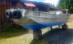 1989 21ft aluiniam fishing boat in good condition powered with 2000 90hp Honda four stroke engine in excellent running condition . Comes on excellent galvanized trailer. Will build console to suit aplacation and rig controls, gauges and steering . Extra