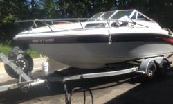 Celebertyis is a Bombardier company, This boat comes with a tandum axle trailer-new bearings and brakes done last Fall, The Boat has had two new batteries, starter, leg rebuilt ,new heat excangeres for the freash water cooling system ,radio and many more
