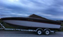 230 Chris Craft Scorpion   Need it gone, The boat has been sitting for a couple years but has been properly winterised, and sitting in a barn. There is a rebuilt motor in the boat, Picked up a bag in the water 2 years ago overheated the motor, rebuilt