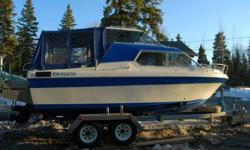 brand new inboard built by jims engines , new impellor, updated interior, stereo, VHF radio , sink , microwave, head,1800 watt genator, nice deep boat, alum swim grid with kicker mount and fish cleaning station, come with tandem axle trailer $9000  981