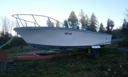 23ft. fiberglass sportcraft c/w windshield and trailer no motor or drive. have registration for the boat