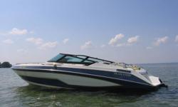 1988 Glastron GX-239 Ultra 7.4L Mercruiser/Bravo outdrive, All stock, Starts and runs perfect, well maint, very reliable, new battery and belts this year, Toilet, full slant top roof, CD stereo, Marine radio, Hi-5 stainless prop, 50 mph . Very clean. In