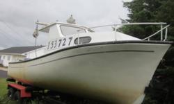 23 ft fiberglass Twillingate includes trailer(2011) Boat geared for lobster fishing. Also has a toilet in folkshole. Used in commericial fishery and also as a pleasure boat. Reason for selling purchased a larger vessel. New Yamaha 90 (2011) motor sold
