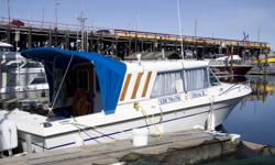 Well maintained comes with Factory Rebuilt 350CiD Chev. Engine. 280 Volvo Leg. 3000 Watt inverter. Hot Water Cabin Heater, depth sounder, GPS with hook up to Laptop (not included) 2 element Propane Galley Stove. Cold water tank, fans, Bilge pump, Bilge